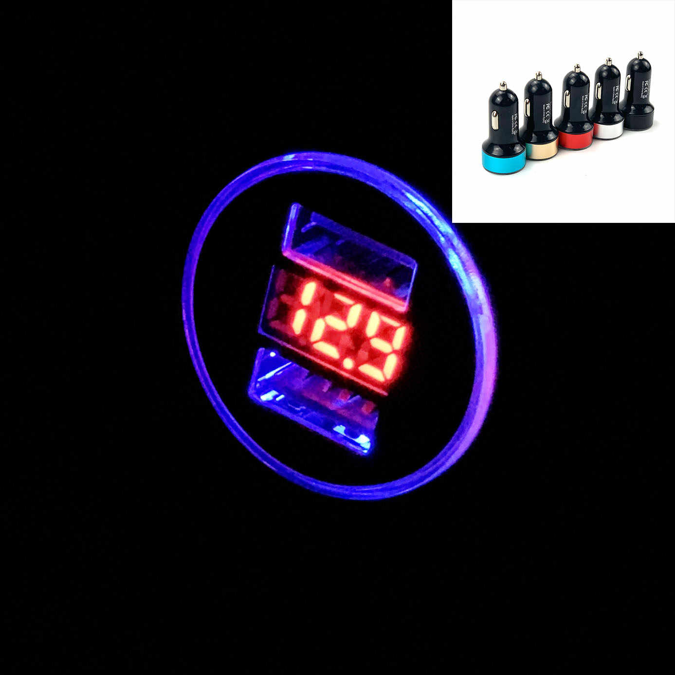 3.1A Dual USB Car Charger LED Display For Touareg Tiguan Polo Passat CC Golf Teramont EOS Scirocco Sharan Fox Ameo Arteon