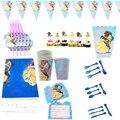 107 шт. топперы для торта в стиле «Красавица чудовище», чашки, декоративные соломинки, скатерть для детского душа, вилки для дня рождения, ложк...