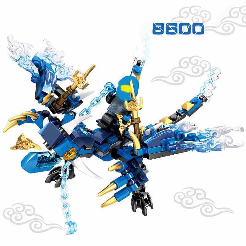 Sembo 8600 Flying Dragon Zane Building Blocks Brinquedos Playmobil original Único Compatível Com Figuras de Animais Brinquedos Presentes 4 cores