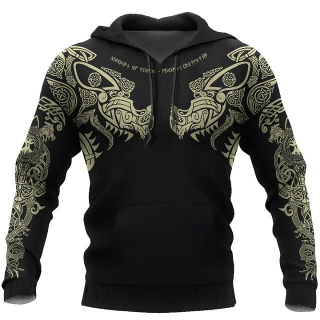 Viking Tattoo 3D Printed Men hoodie 1