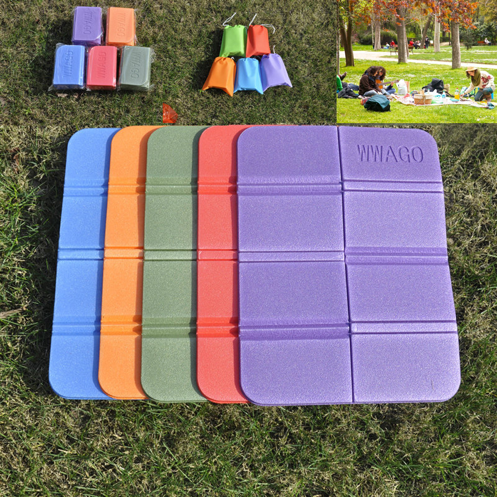 8 Folder Camping Mat Folding Portable Small Cushion Moisture-Proof Waterproof Prevent Dirty Picnic Mat Beach Pad With Bag