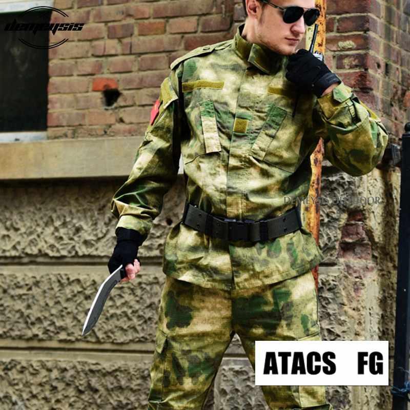 13 kolor Camo wojskowy mundur taktyczny armia Militar odzież męska CS umundurowanie bojowe ubrania myśliwskie kurtka + spodnie