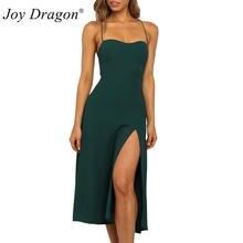 Женское платье с низким вырезом эластичным поясом и открытой