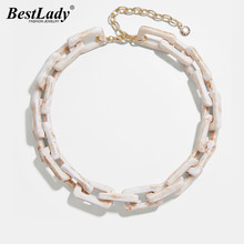 Best Lady Bohemian Fashion Resin Link Necklaces For Women We