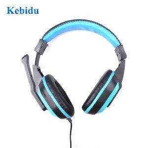 Image 2 - Kebidu Mini Stereo Oortelefoon Full Range Stereo Gaming Hoofdtelefoon 3.5Mm Computer Pc Gamers Headset Met Microfoons Voor Muziek