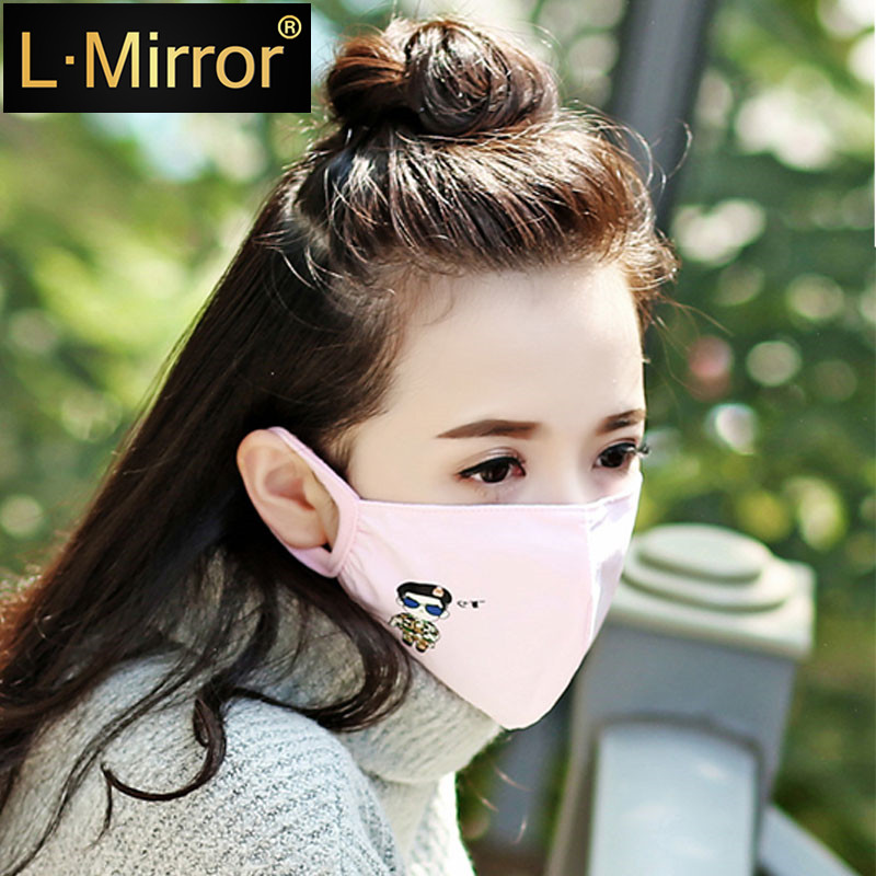 L.Mirror 1Pcs Korea Unisex Dust Allergy Flu Masks Washable Breath Healthy Safety Respirator Face Mouth  For Gilrs And Woman Kids