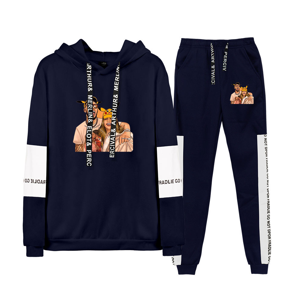 Anuel AA Hip Hop Real Hasta La Muerte 2019 New Hoodies Sweatshirt Suits Winter Ragaln Hoodies+ Pants Recreational New Sport Suit