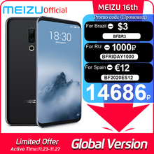 Meizu 16th 6GB 64GB Global-Version GSM/CDMA/WCDMA/LTE Adaptive Fast Charge Octa Core