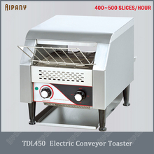 купить TDL450 electric commercial conveyor toaster countertop stainless steel bun pizza toast bread toaster breakfast equipment