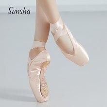 Sansha Ballet Pointe chaussures La Pointe série articulé en cuir semelle forte 3/4 tige filles femmes chaussures de danse avec ruban NO1HSL