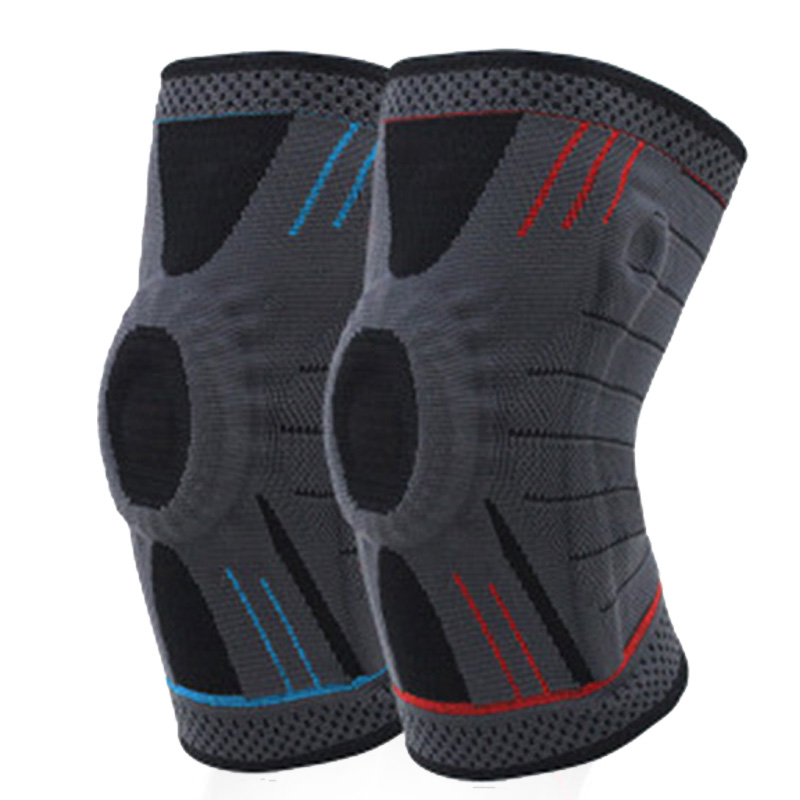 1PC Silicone Knee Brace Support Fitness Basketball For Arthritis Crossfit Gym Volleyball Tennis Sports Warm Knee Pads Protection