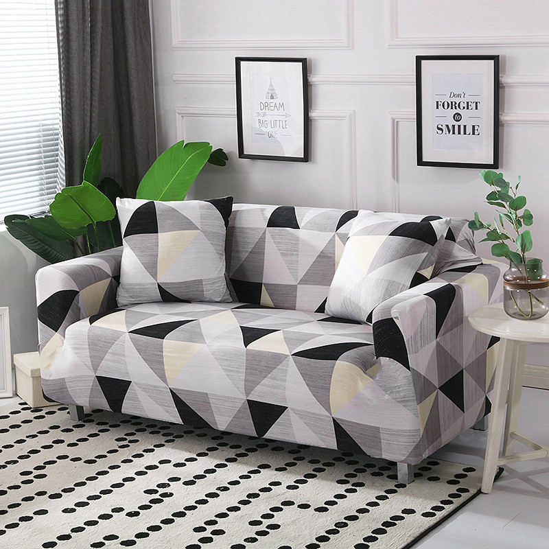 Stretchable Sofa Cover with Elastic for Sectional Couch Protects Sofa from Stains Damage and Dust 25