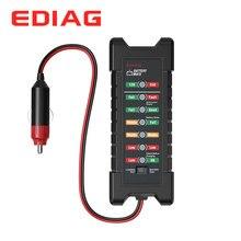 EDIAG BM420 Tester baterii 12 ~ 24V wersja zapalniczki samochodowej cyfrowy 6 LED Light Alternator dla akumulatorów samochodowych analizator