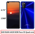 4G RAM + 64G ROM 7A Globale Smartphones Quad Core Gesicht ID Android 6.72