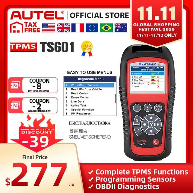 Autel MaxiTPMS TS601 Better than Autel TS401 TPMS Reset Tool Tire Pressure Sensor Relearn Activate Programming OBD OBD2 Scanner