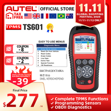 Autel maxitpms ts601 tpms 자동차 진단 도구 obd2 스캐너 자동차 activator 타이어 수리 도구 센서 프로그래밍 코드 리더