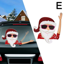 Merry Christmas Car Stickers Wiper Santa Claus/Elk/Snowman Window Decals Decor Autostickers Etiquetas engomadas del coche H99F