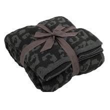 Imitation wool knitted blanket leopard plus velvet jacquard throw blanket for beds sofa Home hotel warm bed spread boho decor
