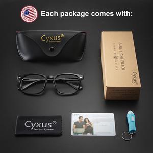 Image 5 - Cyxus blokujące niebieskie światło komputerowe okulary do oczu Anti Eye jasne szkło PC TR90 rama Upgrade dla mężczyzn kobiety okulary 8182