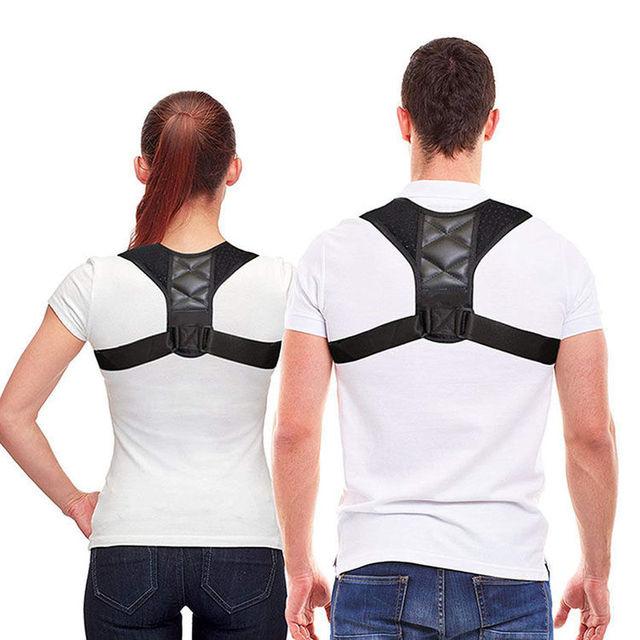 Médico ajustável clavícula postura corrector men woemen superior volta cinta ombro lombar cinto de apoio correção postura espartilho 5