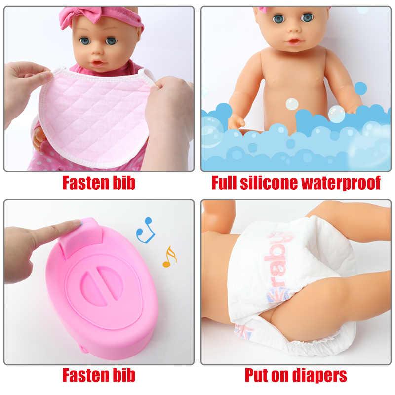 18 Inch Bebe Levensechte Reborn Doll 46 Cm Waterdichte Siliconen Realistische Geluid Pasgeboren Baby Zuigfles Kleding Voor Speelgoed Kids