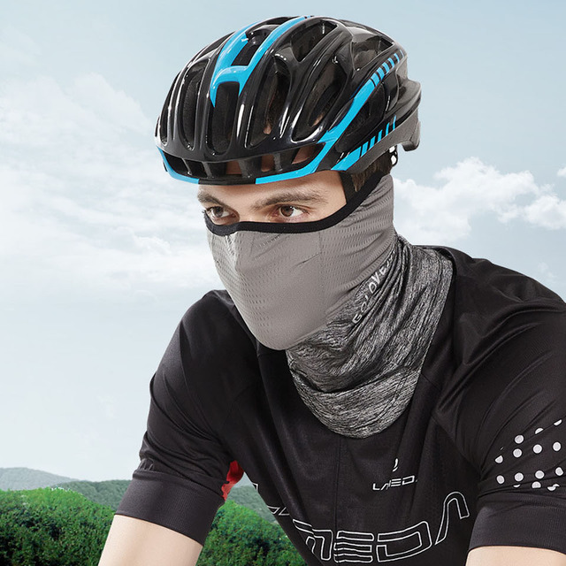Spring Summer Cycling Half Face Mask Skin Cool Ice Silk Breathable UV Protection Sports Headwear Bike Headband Mask 5