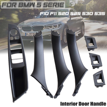 Car Accessories ABS Inner Door Handle Panel Pull Trim Cover For BMW 5 serie F10 F11 520d 530d 535i 550i 51417225857 51417225853 - discount item  18% OFF Auto Replacement Parts