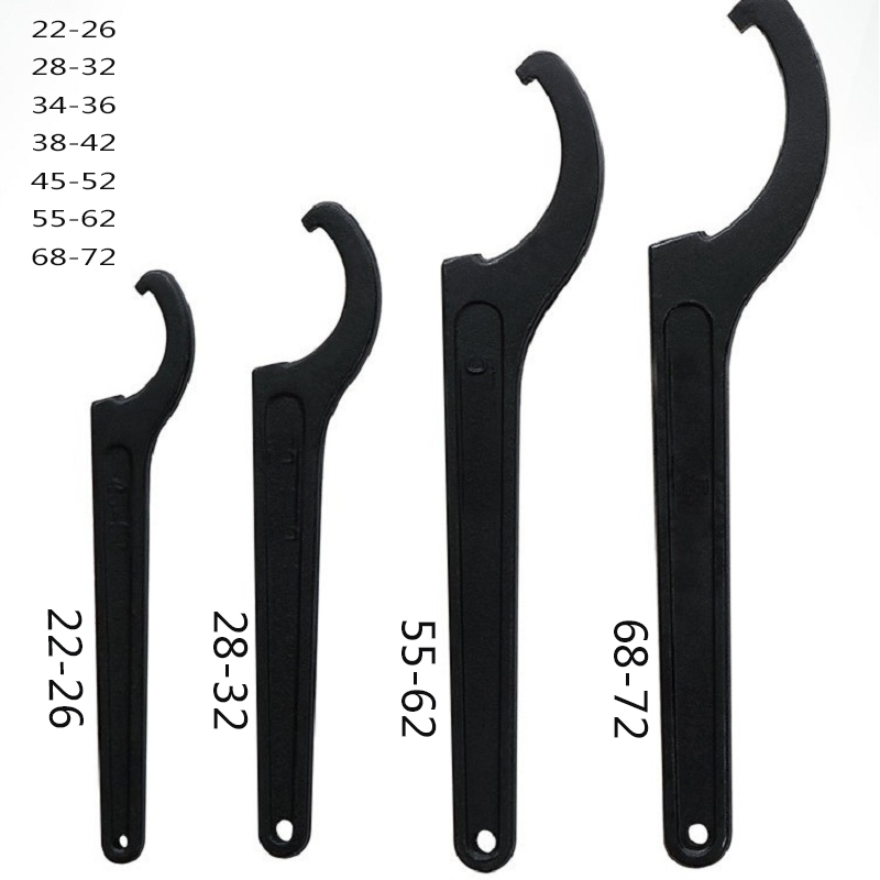 22-72mm Universal Crescent Open-end Wrench Adjuster Motorcycle Bike Absorber Shock C Spanner Pre Load Hook Hand Tool