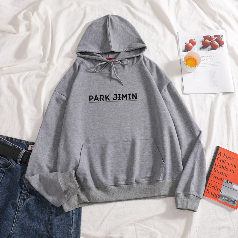 PARK JIMIN Hoodies Graphic Aesthetic Casual High Quality Cotton Top Girl Like Hooded Hoodies Women Autumn Sweatershirt