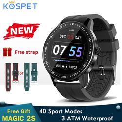 Kospet Magic 2s Smart Watch Bluetooth 5.0 3ATM wodoodporny Smartwatch sportowy 1.3 Cal w pełni dotykowy ekran mężczyźni opaska monitorująca aktywność fizyczną