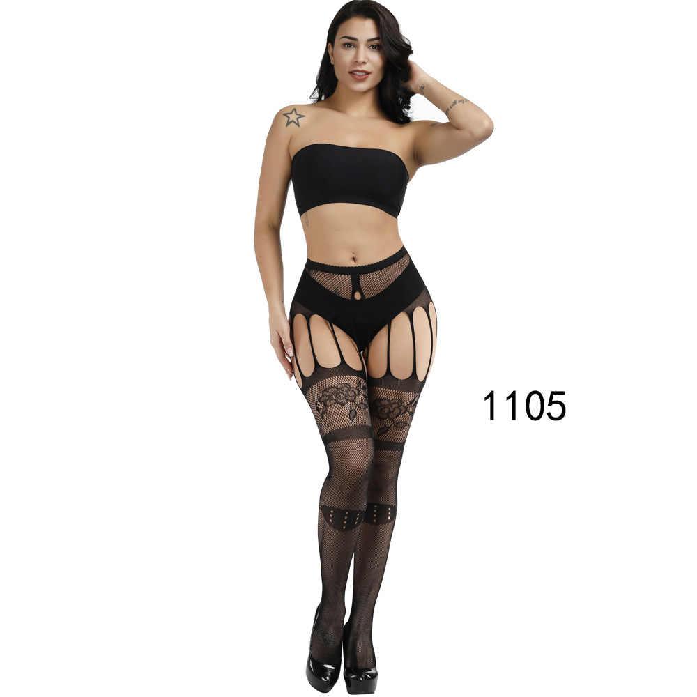 New ARRIVAL Solid ถุงน่องผู้หญิงเซ็กซี่ต้นขาสูง Fishnet ไนลอนถุงเท้ายาว Sex เข็มขัดมาตรฐานกว่าเข่าถุงเท้าชุดชั้นในเซ็กซี่