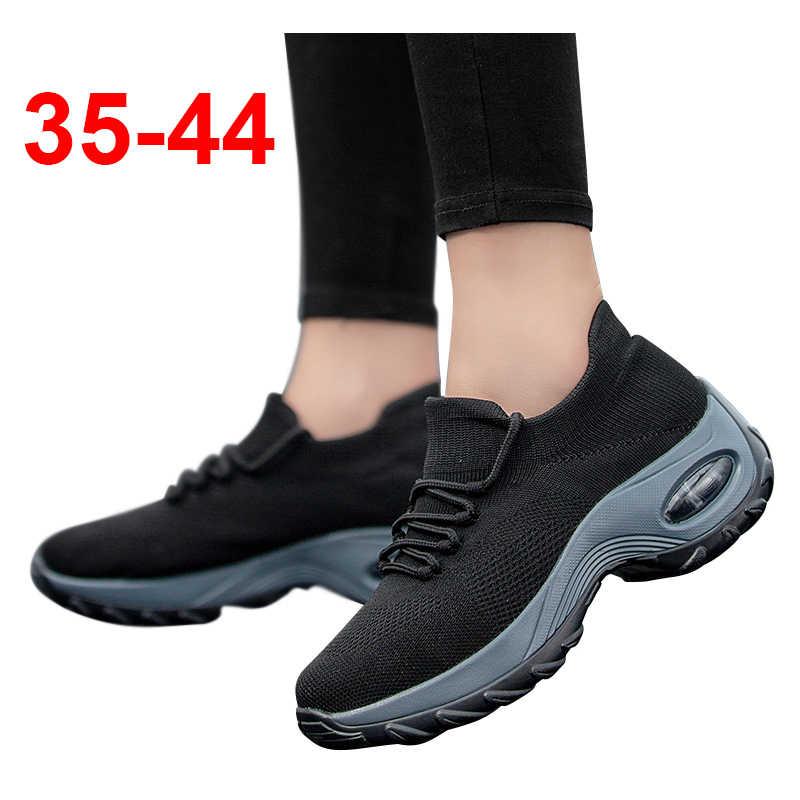 Details about  /2020 Winter ladies warm black cotton shoes 2020 leather casual non-slip platform