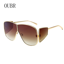 OUBR Brand ladies fashion sunglasses men's luxury quality sunglasses pink lens red lens sunglasses UV400 high quality glasses