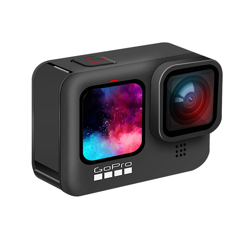 GoPro HERO9 Black Underwater Action Camera 5K 4K with Color Front Screen, Sports Cam 20MP Photos, Live Streaming Go Pro HERO 9 6