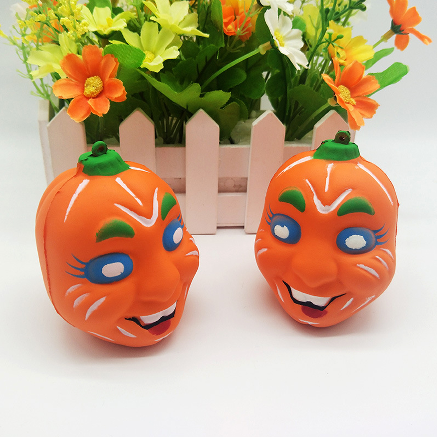 Funny Halloween Pumpkin Slow Rising Squeeze Squishies Toy For Children Kids Adults Relieves Stress Anxiety Home Decorations