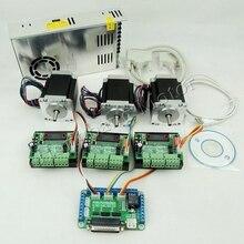 Kit Router di CNC 3 Assi, 3pcs TB6560 1 assi driver motore passo a passo + un breakout board + 3pcs Nema23 270 Oz in motore + un alimentatore