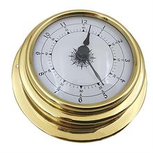 4PCS 98mm Copper Shell Zirconium Marine Barometer Thermometer Hygrometer Barometer Clock For Weather Station mechanical aneroid barometer hygrometer thermometer 225mm daimeter weather station home decoration gift