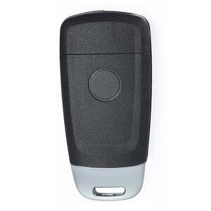 Image 2 - KEYECU 433.92MHz 4D60 שבב FCC ID:SAKS 01TX משודרג Flip מרחוק רכב מפתח Fob 3 לחצן DW04R להב עבור שברולט Optra Lacetti