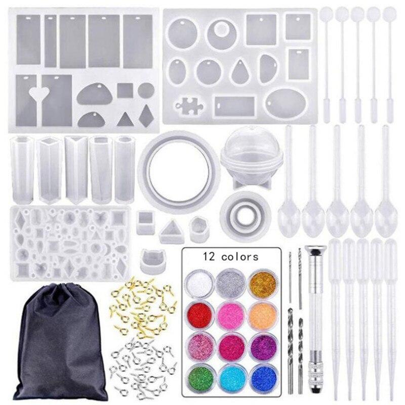 12 cores conjunto 83 pçs molde de silicone mix vara fecho diy jóias fazendo acessórios ferramentas moldes combinação artesanato