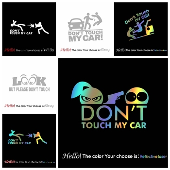Creative Don'T Touch Car Decal Funny Sticker On Car Stickers And Decals Rear Window Vinyl Car Styling vinyl car stickers creative vinyl sticker on car stickers and decals window sticker car styling decal