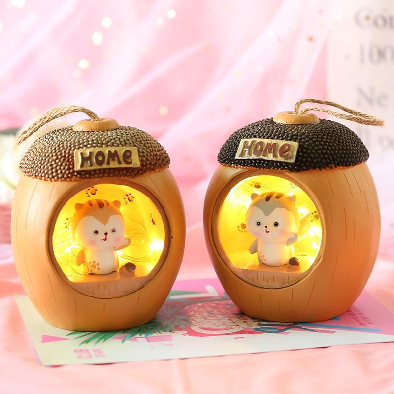 LED Novetly Cute Mouse Night Light for Children Baby Kid Bedside Lamp Toy Animal Bedroom Decor Lighting Birthday Gift  Light