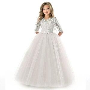Image 3 - Summer Girls Princess Dress Teenage Children Long Evening Party Wedding Dress Kids Dresses For Girls 8 9 10 12 14 Year 40