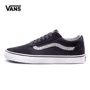 Authentic Black Color VANS Skateboarding Shoes Sneakers Classics VANS Off The Wall Men's/Women's Sports Shoes DF18 Size Eur36-44 vans рюкзак vans off the wall grape leaf