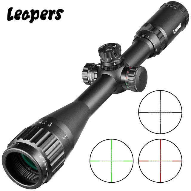 LEAPERS 4 16X40 Riflescope Tactical Optical Rifle Scope Red Green And Blue Dot Sight Illuminated Retical Sight For Hunting Scope