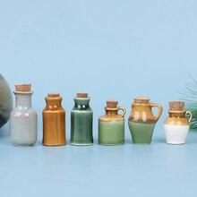 1:12 Dollhouse Miniature Ceramics Jar Seasoning Jar Kitchen Toy Home Decor