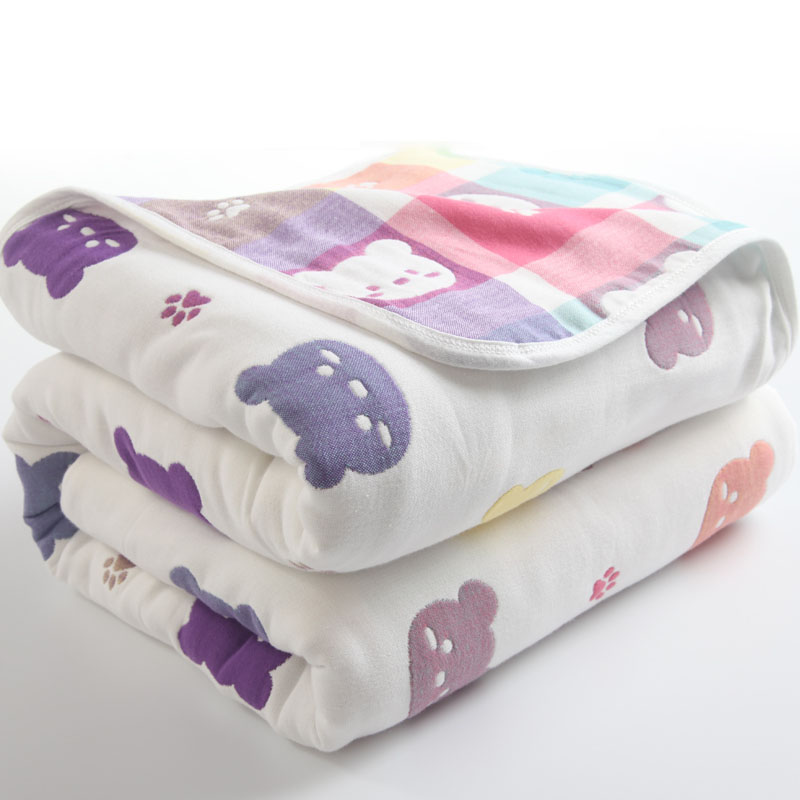 6 Layers Baby Blanket 100% Muslin Cotton Baby Swaddle Baby Warp Swaddle Infant Bedding Receiving Blankets Baby Bath 90*100cm