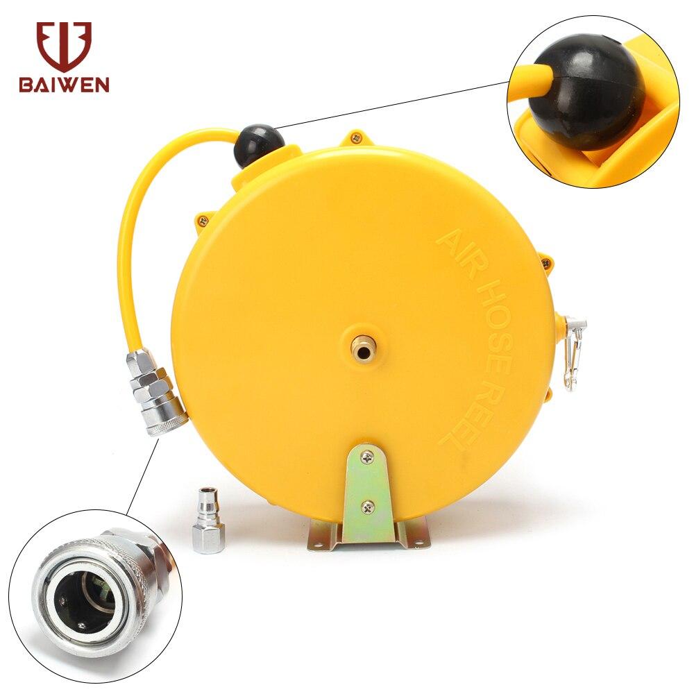 Otomatik Geri Çekilebilir Makara Teleskopik Davul Hortum PU8 * 5 10*6.5 12*8 Otomotiv Hava Hortumu Pnömatik PU tüp