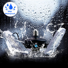 E27 60W LED Lamp 100W Bulb E26 Garage 80W Lampara Light 220V Deformable Sensor Factory Basement Lighting 110V