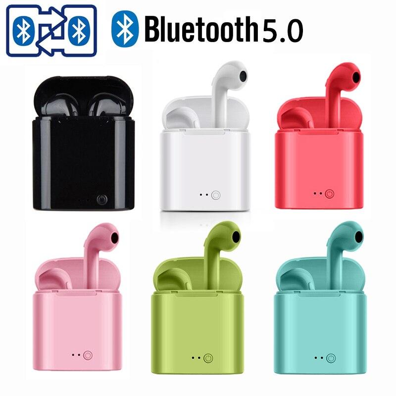 I7s наушники-вкладыши TWS с беспроводной динамик Bluetooth 5,0 наушники, стерео гарнитура, наушники для смартфона Xiaomi Samsung Huawei