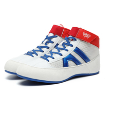 2021 New Breathable Kids Wrestling Shoes Black White Lightweight Boxing Sneakers Size 31-39 Boys Girls Flighting Shoes